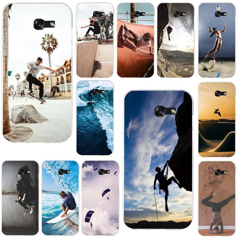 2019 Mode Parkour Skateboard Surf Sport Für Samsung Galaxy A3 A5 A7 J1 J2 J3 J4 J5 J6 J7 2016 2017 2018 Weichen Silikon Handy Fällen Mit Den Modernsten GeräTen Und Techniken