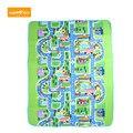 130x160 CM Crianças Floresta Feliz Cidade Estrada Desenvolvimento Do Bebê Jogar Mat Tapete Almofada Puzzle Tapetes Impressos Para Presente