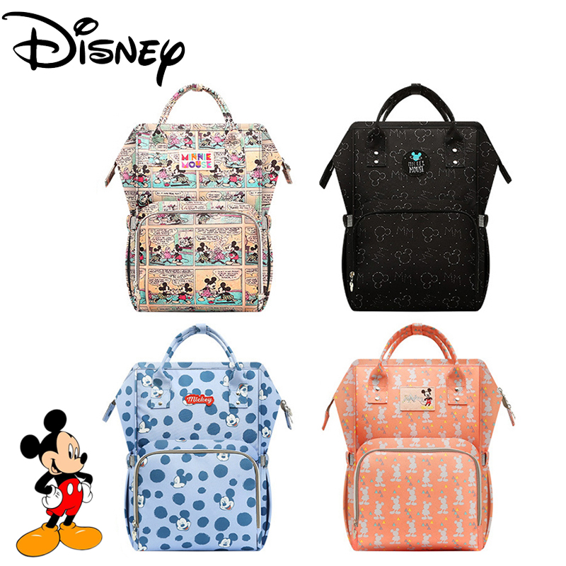 DISNEY Backpack For Moms Diaper Maternity Nappy Bag Large Capacity Bolso Maternal Wheelchairs Baby Bag For