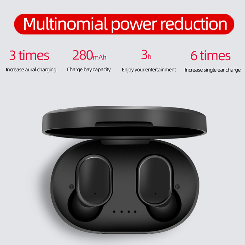 A6S <font><b>Mini</b></font> TWS Twins Wahre <font><b>Wireless</b></font> In-Ear <font><b>Bluetooth</b></font> 5,0 Kopfhörer <font><b>Sport</b></font> Stereo Ohrhörer Headset mit Mic 280 mah Auto Lade box image
