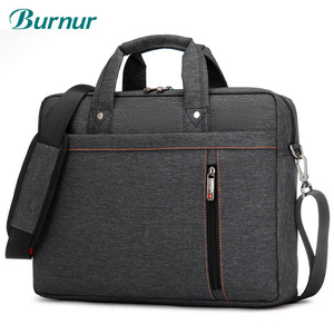 Image 1 - Sacoche Portable de luxe à épaule épaisse pour hommes et femmes, sacoche, étanche, antichoc, Air pochette dordinateur 17.3 15 14 15.6