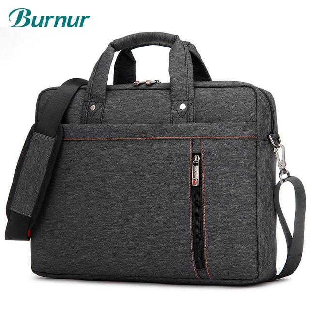 Sacoche Portable de luxe à épaule épaisse pour hommes et femmes, sacoche, étanche, antichoc, Air pochette dordinateur 17.3 15 14 15.6