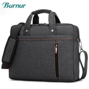 """Image 1 - Wodoodporna, odporna na wstrząsy powietrza torba na laptopa 17.3 15.6 15 14 13.3 13 """"luksus gruby przenośne torba na ramię kobiety mężczyźni Notebook torba"""
