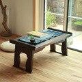 Mesa de Chá japonês Antigo Pernas Dobráveis Retângulo 60 cm Madeira de Paulownia Tradicional CHABUDAI Asiático Mobiliário Sala de estar Mesa Baixa