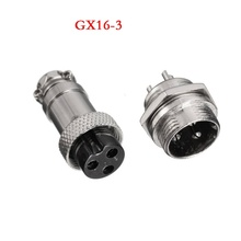 1pcs GX16 Circular Connector Aviation Socket Plug GX16-2/3/4/5/6/7/8/9 Pin Male & Female Diameter 16mm Wire Panel Connector
