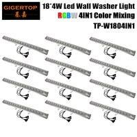 Wholesales 12pcs/Lot 18*4W 4IN1 Led Bar Lights Long Led Flood Light Outdoor RGBW Led Washer Light DMX 512 LCD Control,90V 240V