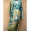 Novidade Verde Chinês Tradicional Cetim Roupão Sexy Sleepwear Camisola Salão das Mulheres Nightclothes Charmoso One Size NS0038