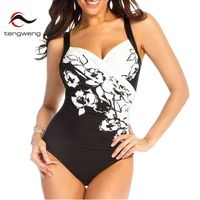 Tengweng 2017Women Sexy Black Lace Black Push Up Tankini Top Bikini Swimwear Shorts Mesh Swimsuit Skirt