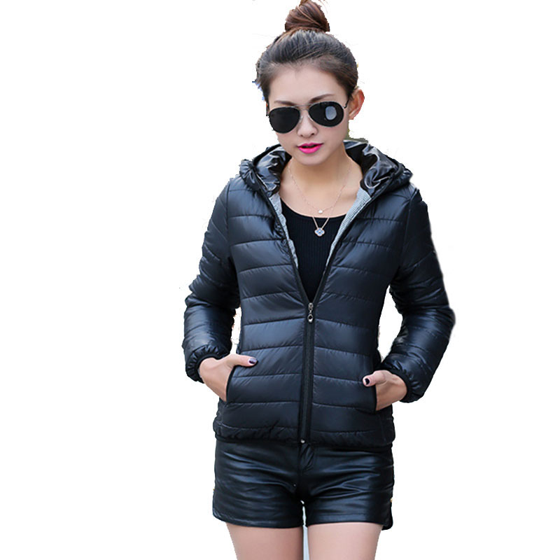 Large Size 3XL Jacket   Parka   Female Coat women's windbreaker Jacket Winter Women's Down   Parka   Hooded Warm Short Slim   Parka
