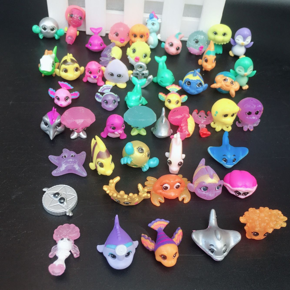 New Arrival ?pcs/lot Splashlings Ocean Full Of Friends Wave 1 & 2 FISH Animal Figures Collection Toys *SEND RANDAM*