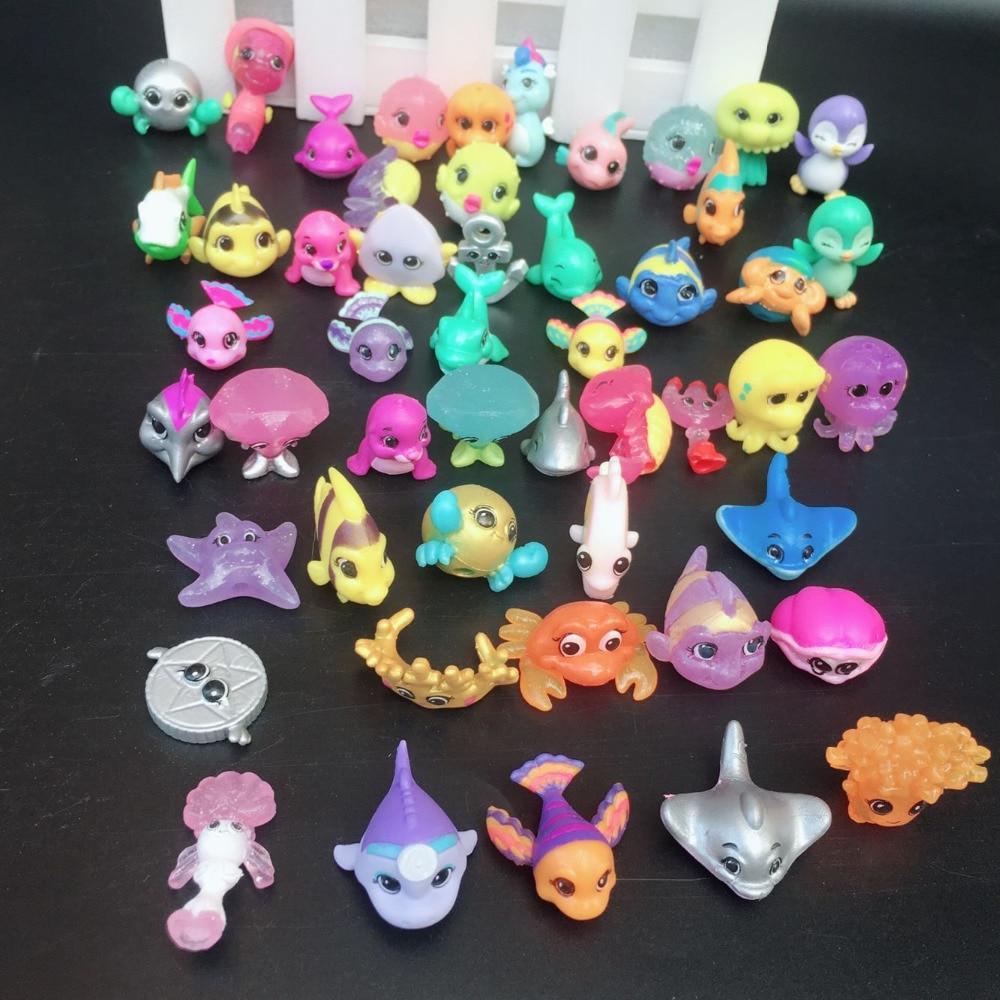 New Arrival ?pcs/lot Splashlings Ocean Full Of Friends Wave 1 & 2 FISH Animal Figures Collection Toys *SEND RANDAM*