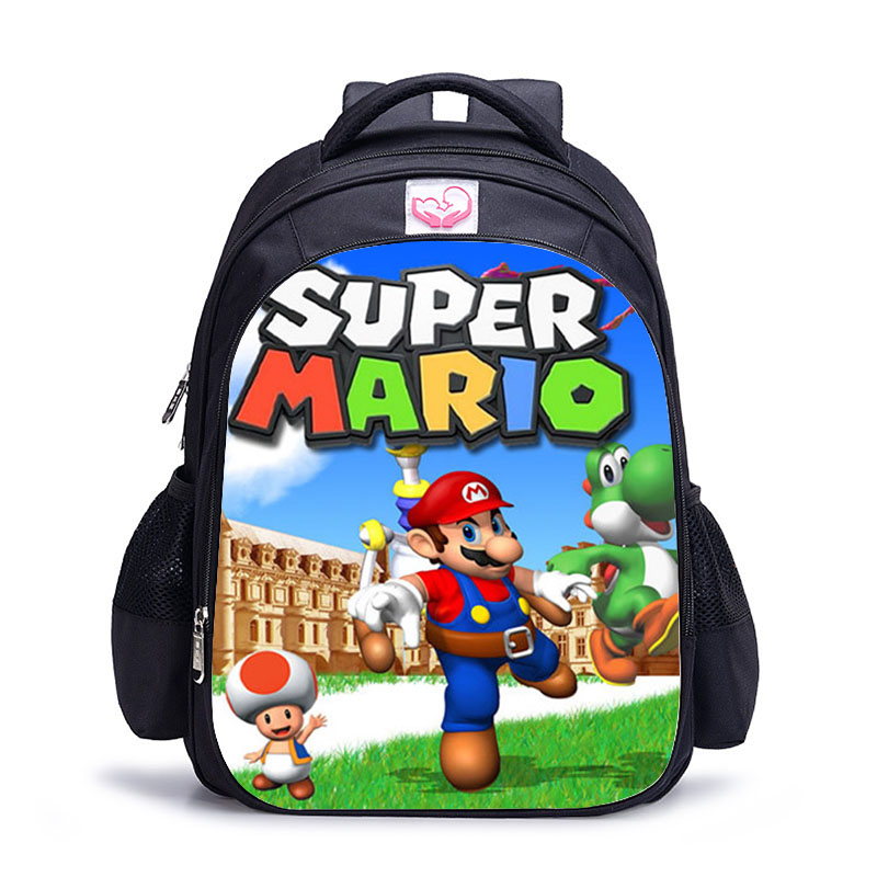 Image 5 - 16 Inch Mario Bros Sonic Children School Bags Orthopedic Backpack Kids School Boys  Girls Mochila Infantil Catoon Bags-in Backpacks from Luggage & Bags