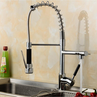 Hot/Cold Water Tap Kitchen Torneira Cozinha Pull Down Spray +Liquid Soap Dispenser+Cover Plate+ Hose Faucet Mixer Tap