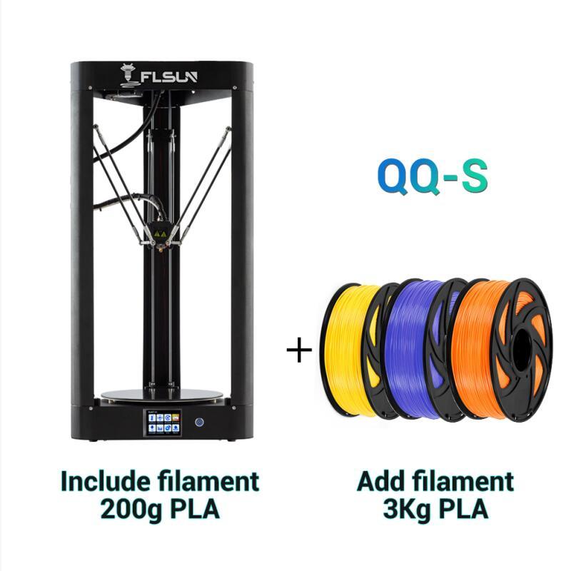 FLSUN QQ-S 2019 haute vitesse Delta 3D imprimante, grande taille 255*360mm kossel 3d-imprimante mise à niveau Auto-nivellement écran tactile