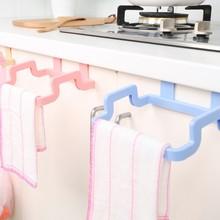 1Pc New Portable Kitchen Cabinet Over Door Hanging Towel Rack Holder Bathroom Hanger Storage Rack E