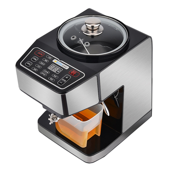 цена на 2016 new Small Home family electric intelligent cold hot pressing peanut automatic commercial oil press machine with baked Fried
