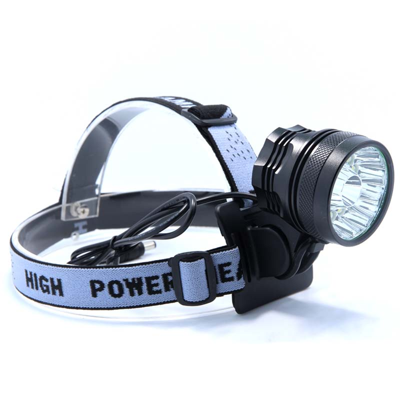 Купить с кэшбэком Powerful 2 in 1 20000LM 16 x XM-L T6 LED Rechargeable Bicycle Light Headlight Headlamp Head Lamp + 18650 Battery Pack + Charger