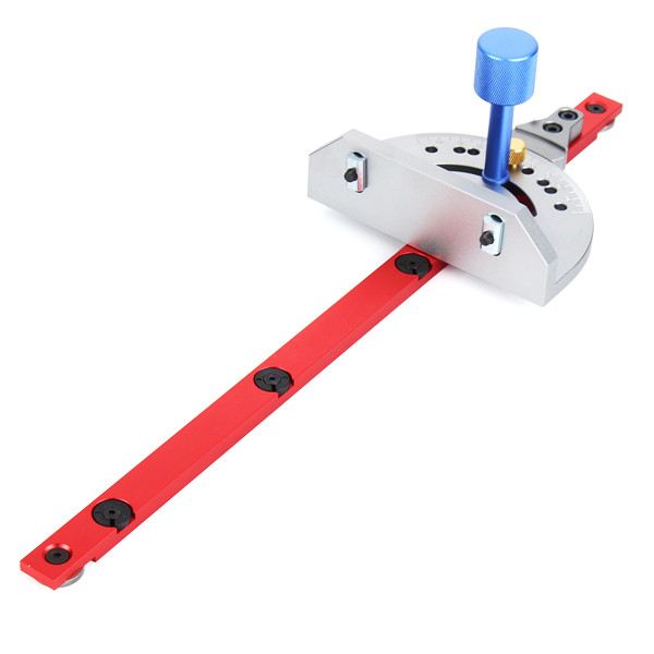 Red Miter Gauge Table Saw Router Miter Gauge Sawing Assembly Ruler Woodworking Tool for Bandsaw carpenter s workshop miter gauge for table saw with adjustable flip stop