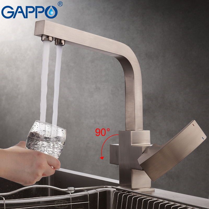 GAPPO Torneira Da Cozinha filtro de água da torneira torneira da pia da cozinha misturador de água guindaste torneira da cozinha torneira cozinha com água filtrada