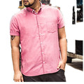 Free shipping xxxl 8xl men's clothing ultralarge 100% summer cotton short-sleeve shirt Large shirt pink 155 cm bust