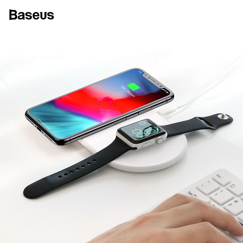 Thing-ning Wireless QI Standard Fast Charger Charging Pad Stand Dock Holder for iPhone Xs//XS MAX//XR 1 x Wireless Charging Stand,1 x Micro USB Cable