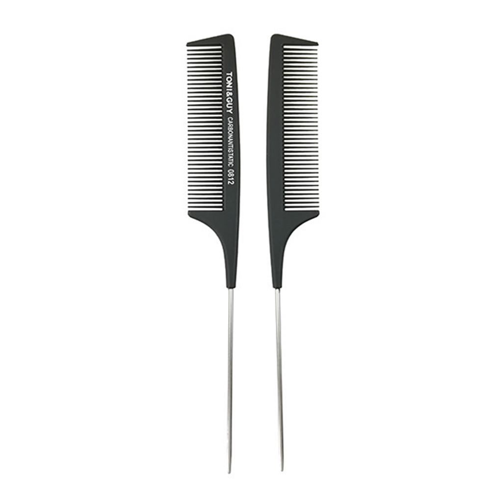 New Carbon Stainless Steel Rat Tail Combs Anti-Static Detangling Comb High Temperature Resistant Stylist Hair Tool Durable Soft