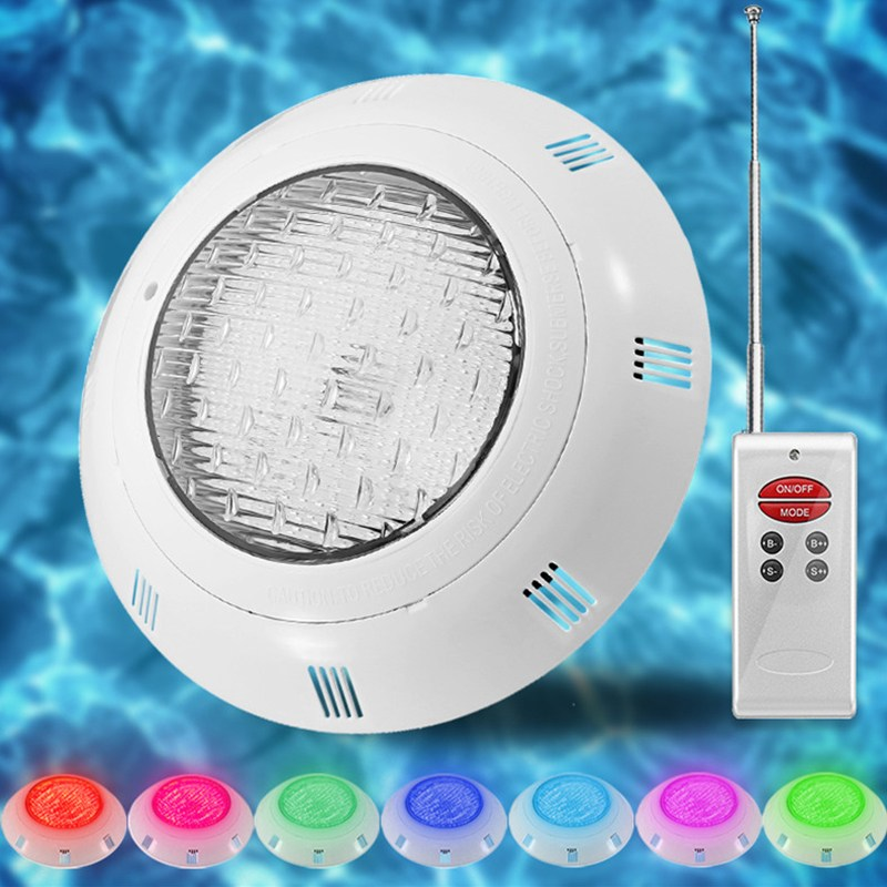 Smuxi Underwater Lights RGB LED Swimming Pool Light Resin Filled Piscina Wall Mounted Pool Lamp 12V IP68 18W Pond rgb 300mm 513 led swimming pool light 316l stainless 12v resin filled 18 24 35w swimming pool pond led light lamp