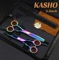 2016 nova cabelo tesoura de cabeleireiro tesoura KASHO 5.5 polegada de boa qualidade frete grátis