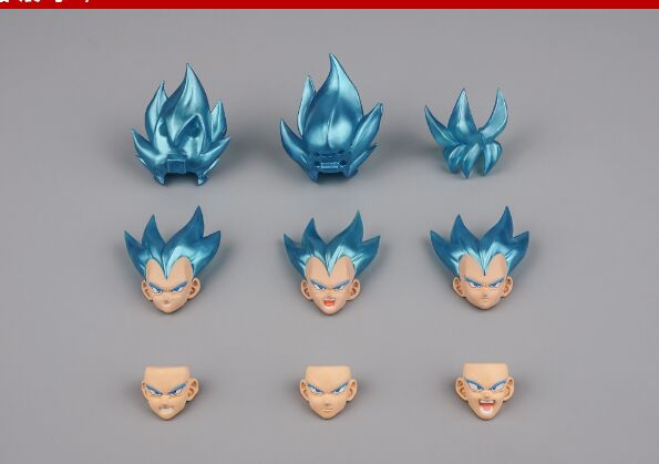 Us 27 06 24 Off Demoniacal Fit Ssj Blue Custom Headsculpt Head And Hair Set Accessories For Goku Vegeta 1 12 In Action Toy Figures From Toys