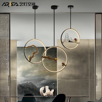 Chinese style Retro lamps living room Fixture Restaurant hanging lights Bedroom Lighting Cafe Iron Novelty resin Pendant Lights