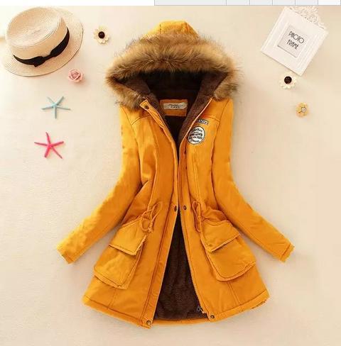 Coat 2019 Womens   Parka   Coats Winter Hooded Long Jacket plus size snow wear coat large fur thickening outerwear 8860