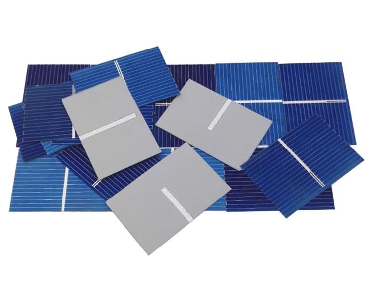 Aoshike 100pcs Solar Panel Sunpower Solar Cell photovoltaic panels Polycrystalline DIY Solar Battery Charger 0.5V 0.17W 39x26mm 5