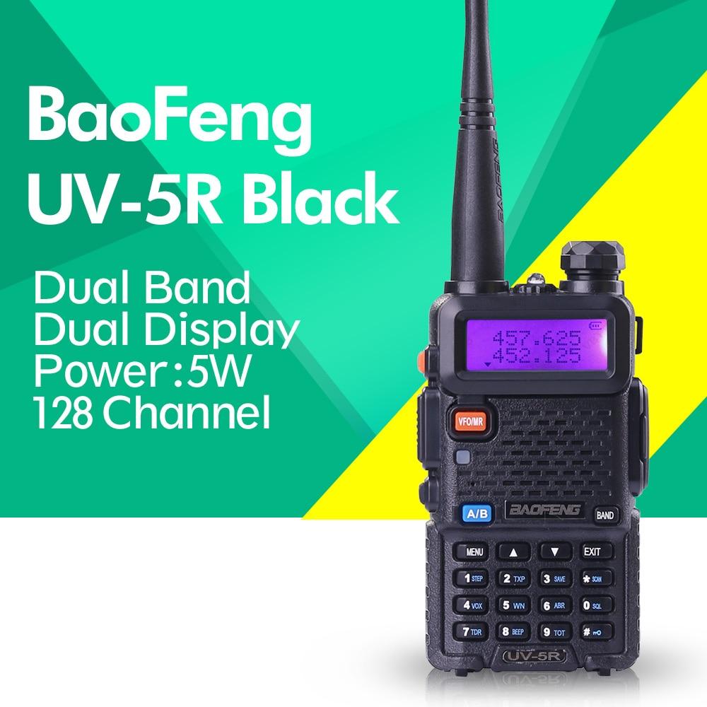Baofeng UV-5R 136-174/400-520 MHz Walkie Talkie 5W UHF And VHF Dual Band Portable Ham Radio Uv5r