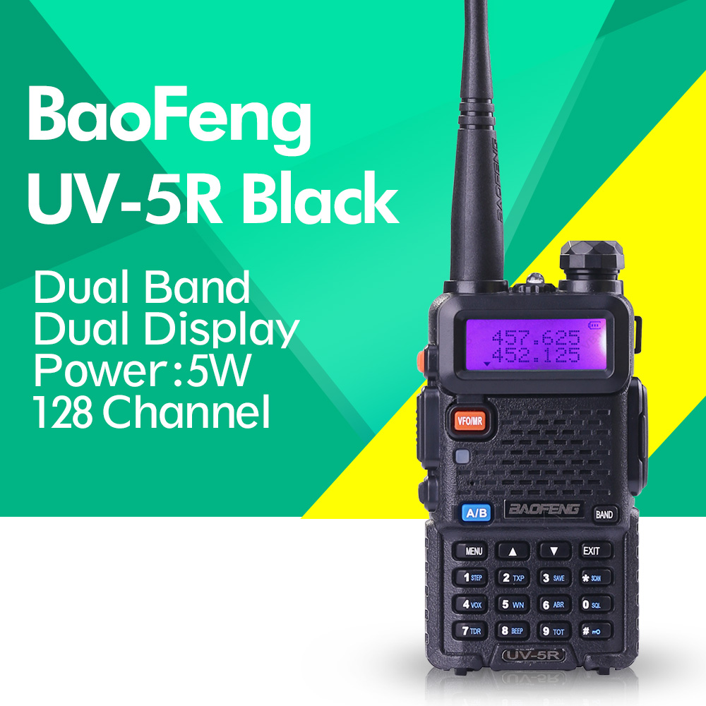 Baofeng UV-5R 136-174/400-520 mhz Talkie Walkie 5 w UHF et VHF Double Bande Portable Ham Radio uv5r