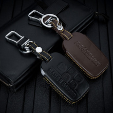 ABAIWAI Leather Keychain Case For Land Rover Range Rover Sport A9 Discovery 2 3 4 Discovery