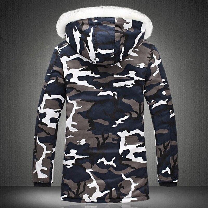 Image 4 - Зимняя мужская куртка, хит продаж 2019, камуфляжная армейская Толстая теплая куртка, Мужская парка, Мужская модная парка с капюшоном, Мужская M 4XL размера плюс-in Парки from Мужская одежда