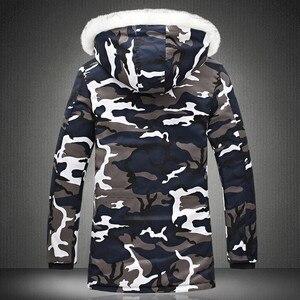 Image 4 - Rivestimento di inverno Degli Uomini 2020 Vendita Calda Camouflage Esercito di Spessore Cappotto Caldo Parka degli uomini Cappotto Moda Maschile Con Cappuccio Parka Uomini m 4XL Più Il Formato