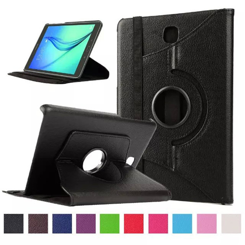 360 Degree Rotating Cover Case For Samsung Galaxy Tab A 8.0T350 T355 P350 SM-T350 SM-T355 Tablet PU Leather Stand Funda Case