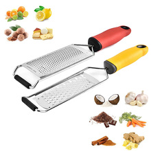 Memokey Cheese Grater Stainless Steel Blade Cheese Slicer Lemon Zester Grater Chocolate Cheese Grater With Protective Cover  C microplane тёрка premium zester grater зелёный