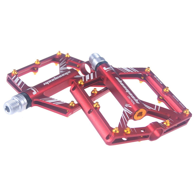 цена Mountain Bike Bicycle Pedal MTB Road Bike Ultralight Pedals Aluminum Alloy 4 Bearings Cycling BMX Pedal