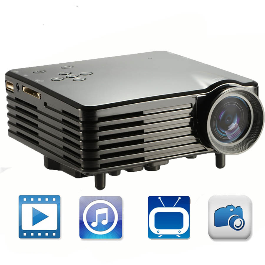H80 Projector 640 x 480 Pixels 100 Lumens Full HD Projector Home Theater 1080P Projection Mini LED Video Proyector 3