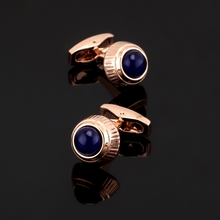 XK433 High high quality French Cufflinks Blue Crystal opal Cufflinks different marriage ceremony shirts males / wholesale / retail / equipment