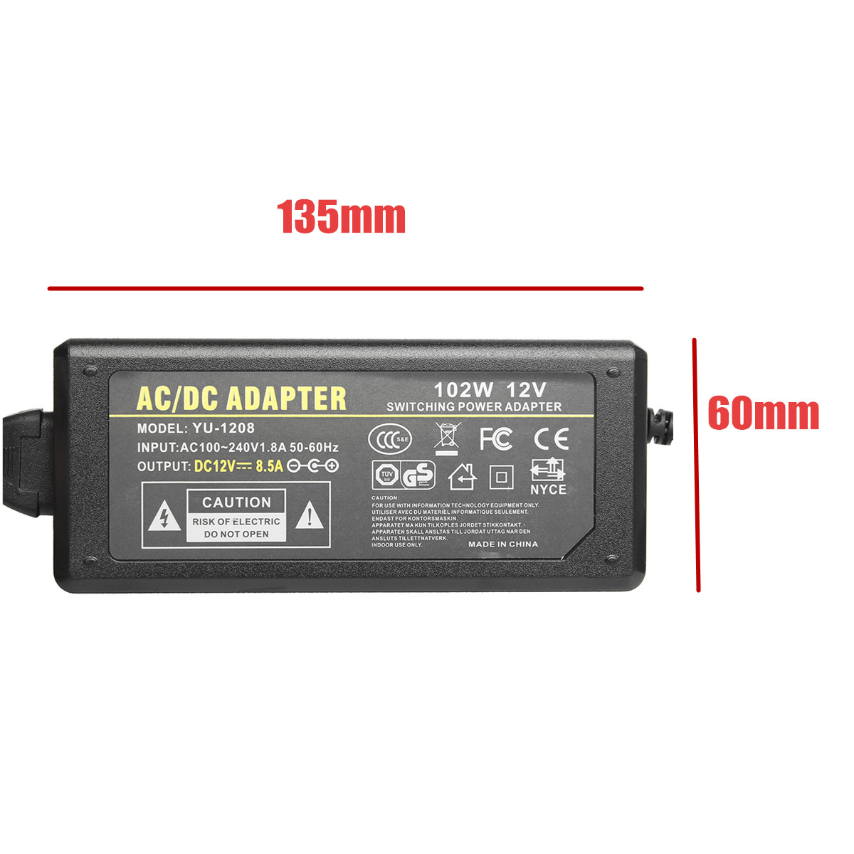 US $14 29 51% OFF|240V AC to 12V DC 8 5A Power Supply Adapter Cigarette  Socket Waeco Engel Fridge Charger Accessories-in Battery Accessories &  Charger