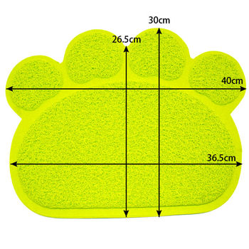 Paw Print Dog Cat Litter Mat Puppy Kitty Dish Feeding Bowl Placemat Tray Tidy Easy Cleaning Sleeping Pad Cama 3 Colors 1