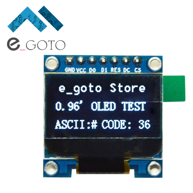 "0.96 inch IIC SPI Serial White OLED Display Module 128X64 I2C LCD Screen Board 0.96"" SSD1306 for Arduino/stm32/51"