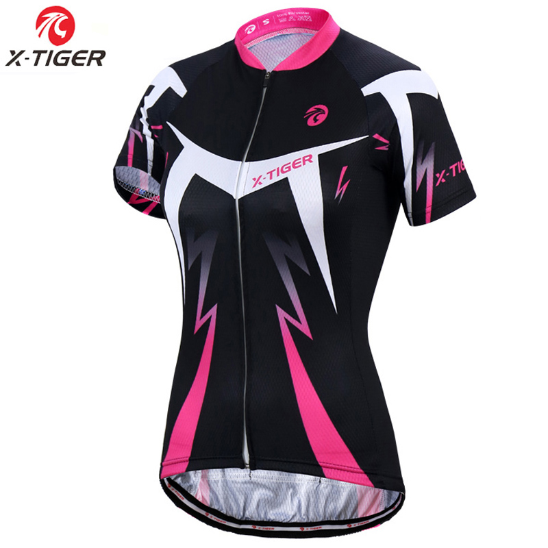 X-Tiger Pro Summer Women Cycling Clothing MTB Bike Clothing Bicycle Wear Clothes Ropa Ciclismo Girls UV400 Cycling Jersey