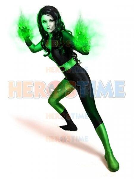 US $44 64 5% OFF|Kim Possible Shego Costume Female Super Villain Costume  Spandex Zentai Bodysuit For Woman/Girl Halloween Costume on Aliexpress com  |