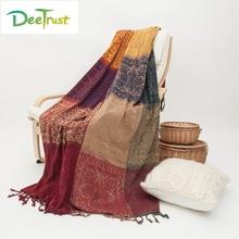 Памук Класик Европа Супер мека сгъстена карирана цветна одеяло мода хвърли на диван / легло одеяло маса / самолет одеяло пиано корица