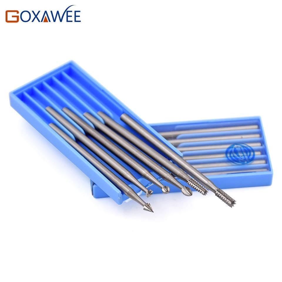 GOXAWEE Mini Instrumente rotative Oțel Burs Instrumente abrazive - Instrumente abrazive - Fotografie 4