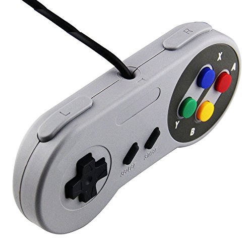 2018 Retro Wired USB Controller Gaming Joypad Joystick For SNES Style For PC Window 7/8/ ...